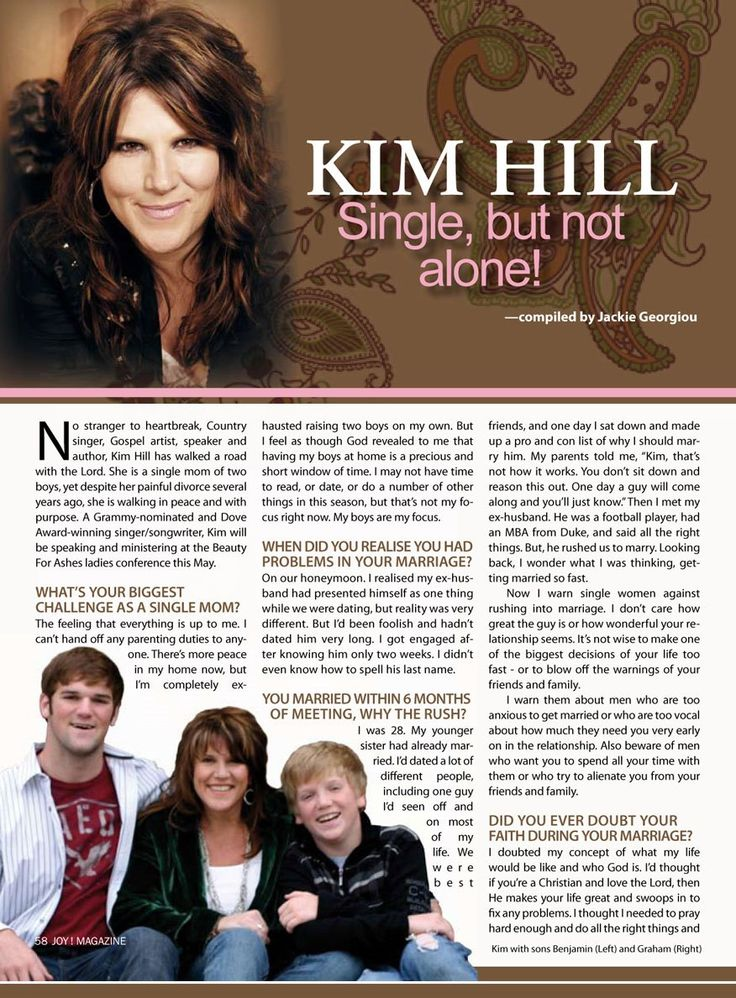 Kim Hill, Single, But Not Alone in May 2010 https://www.beautyforashes.co.za/sites/default/files/media/print/Kim_Hill.pdfissue of JOY! magazine. Read it here,