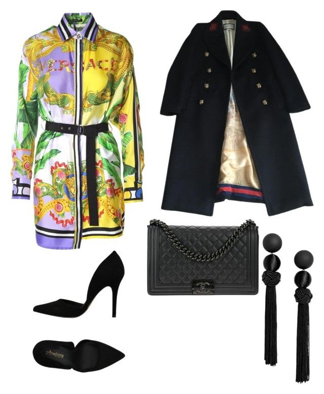 """""""Untitled #168"""" by denisapurple on Polyvore featuring Versace, PrimaDonna, Gucci and Chanel"""