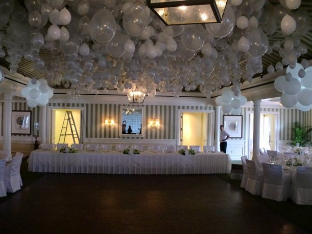 how to bring a balloon done from a high ceiling