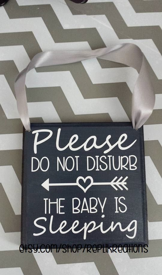 Please Do Not Disturb The Baby Is Sleeping Sign on Etsy, $12.00