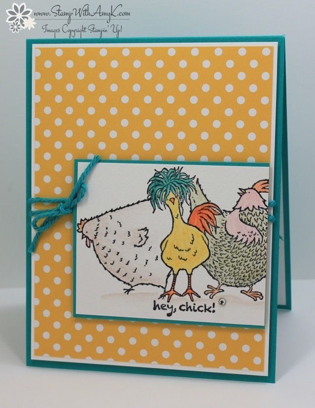 I used the Stampin' Up! Sale-a-bration exclusive Hey, Chick stamp set to create a fun card to share with you today.  I used the Post-It Note masking technique to stamp the chicks and then did…
