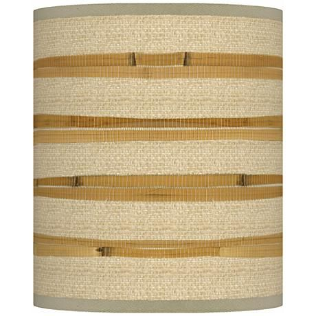 Lamp shades 211 pinterest bamboo wrap giclee shade 10x10x12 spider style n3786 v3069 mozeypictures Gallery