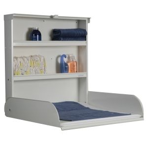 BYBO DESIGN - changing table Love this idea...often said that I needed a wall mounted changing table to maximize space in a tiny room