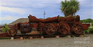 Photograph - Rusted Train  Engine by Nareeta Martin