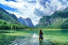 Wunderschöner Ausflug im Hochpustertal zum Toblacher See #südtirol #bergsee