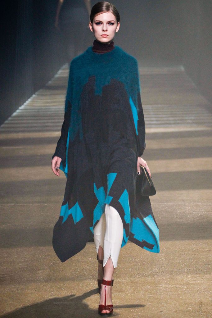 #fashiontrends#fall2012 cobalt blue accents @3.1PhillipLim RTW textured wool detailing