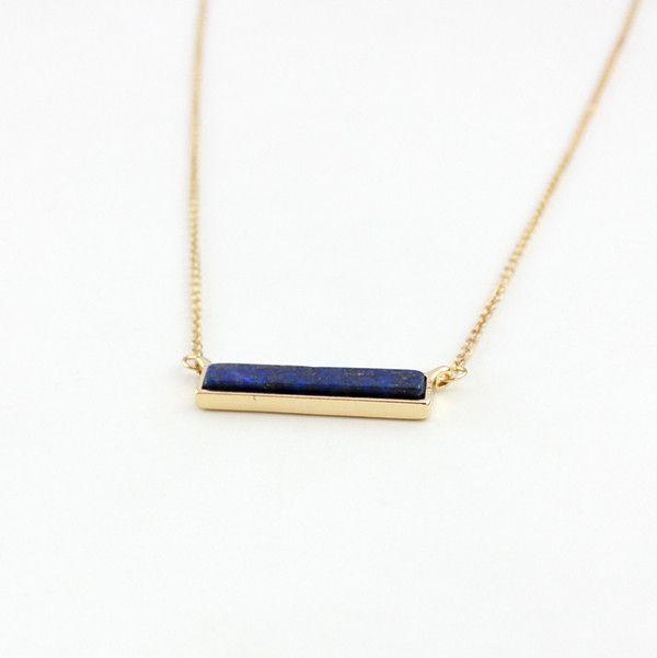 Kellee Long Stone Bar Necklace