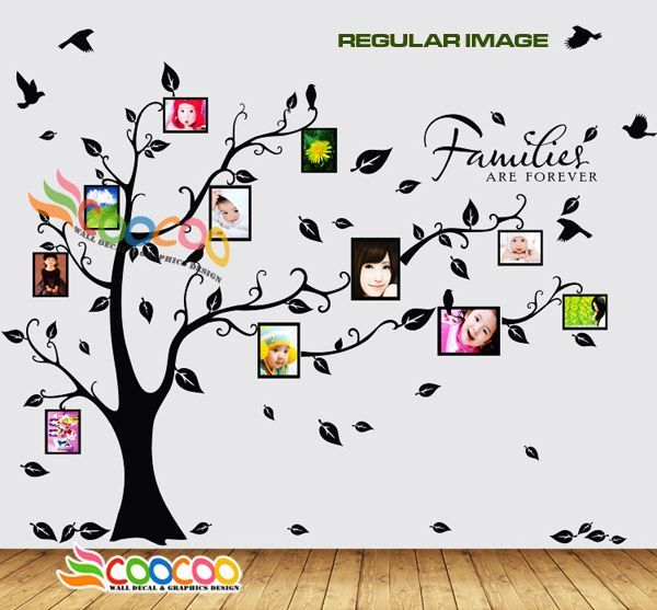 Large Family Tree Wall Decal | large family tree wall decal | Wall Decal Sticker Removable Photo ...