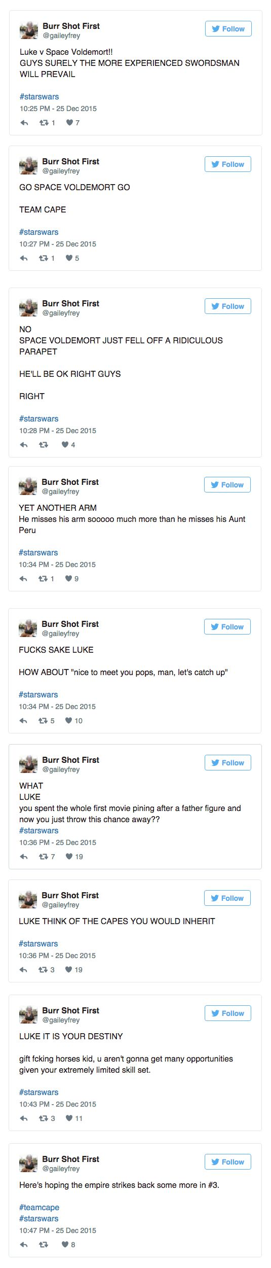 This Gal Live Tweeted Her First Time Watching Star Wars and Got a Lot of Things Wrong