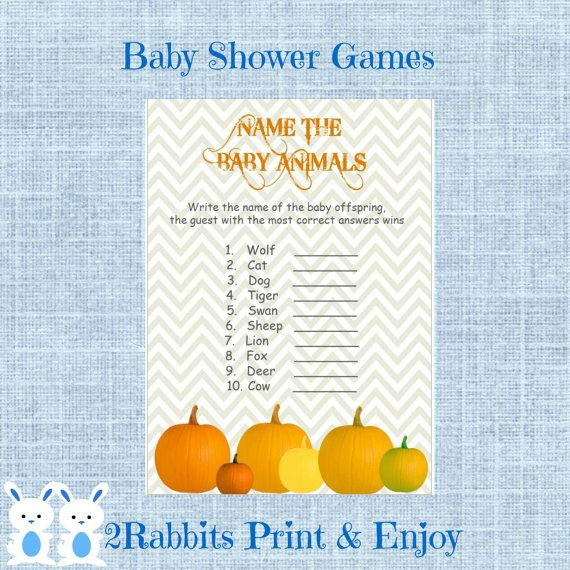 Baby Shower Game Name The Baby Animal: 30 Best Images About Thanksgiving Baby Shower On Pinterest