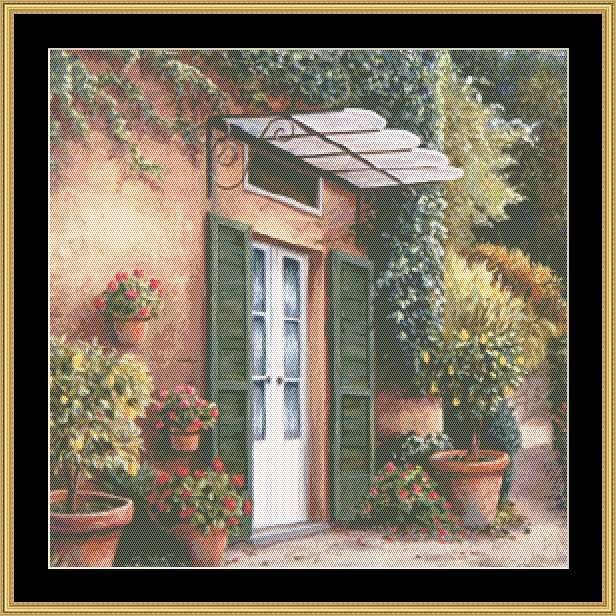 Guest House [BF2-74] - $16.00 : Mystic Stitch Inc, The fine art of counted cross stitch patterns