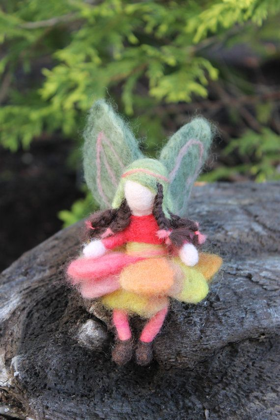 Needle felted forest fairy Waldorf doll/fairy by JensFeltedJems, $22.00