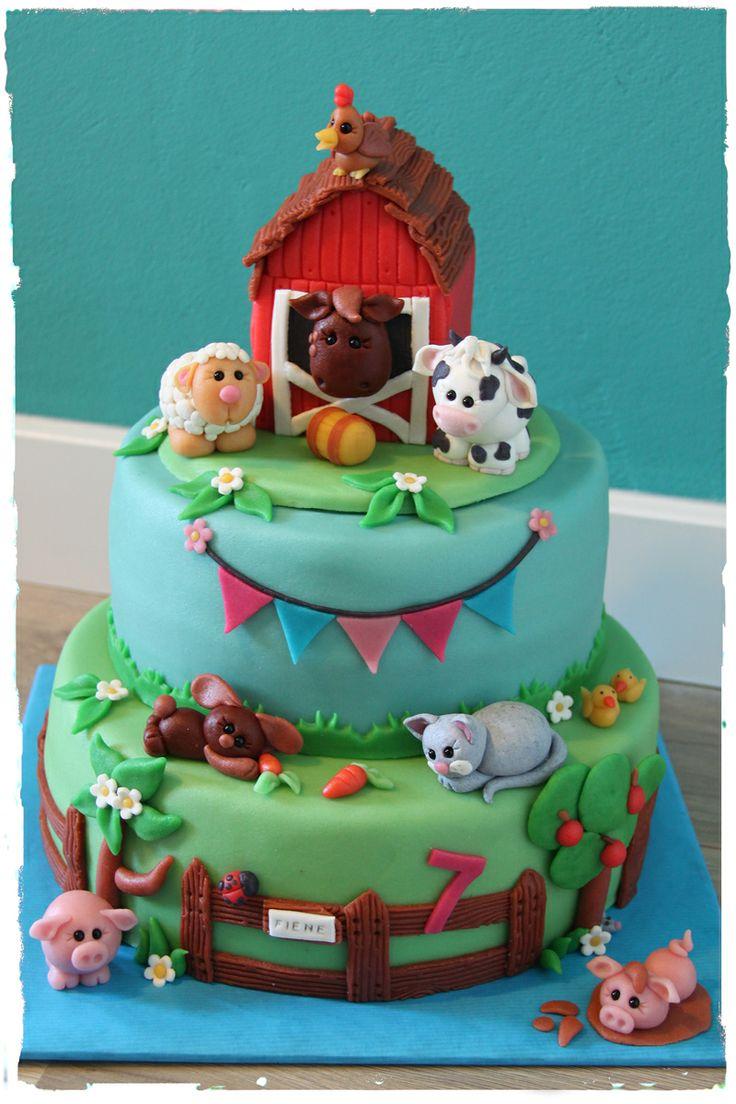 Sweet Farm Cake | Boerderij Taart | Made by Simply Sweet NL #farm #animals…
