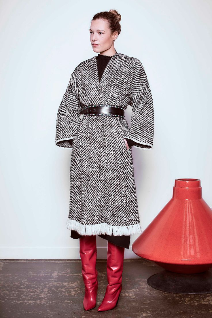 I'd like to make a knitted version of this Isabel Marant coat from the Pre-Fall 2016 collection.