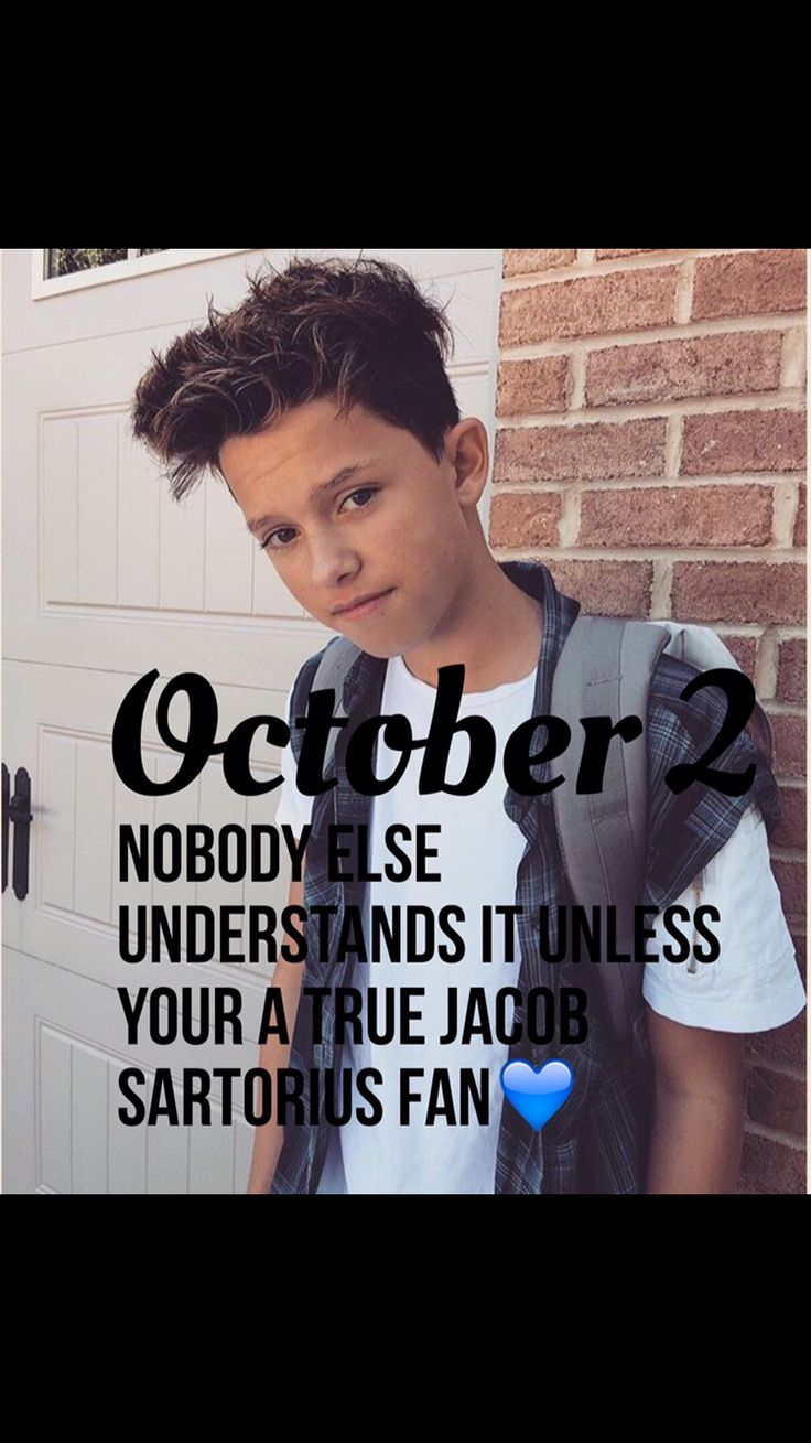 Only Jacob sartorius fans understand !❤️❤️