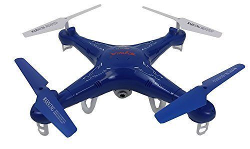 Syma X5C Quadcopter Drone with HD Camera and extra battery in exclusive Blue design by Syma - http://www.midronepro.com/producto/syma-x5c-quadcopter-drone-with-hd-camera-and-extra-battery-in-exclusive-blue-design-by-syma/