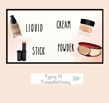 5 Types of Foundations. #Makeup #Tips #MakeupTips #HowTo