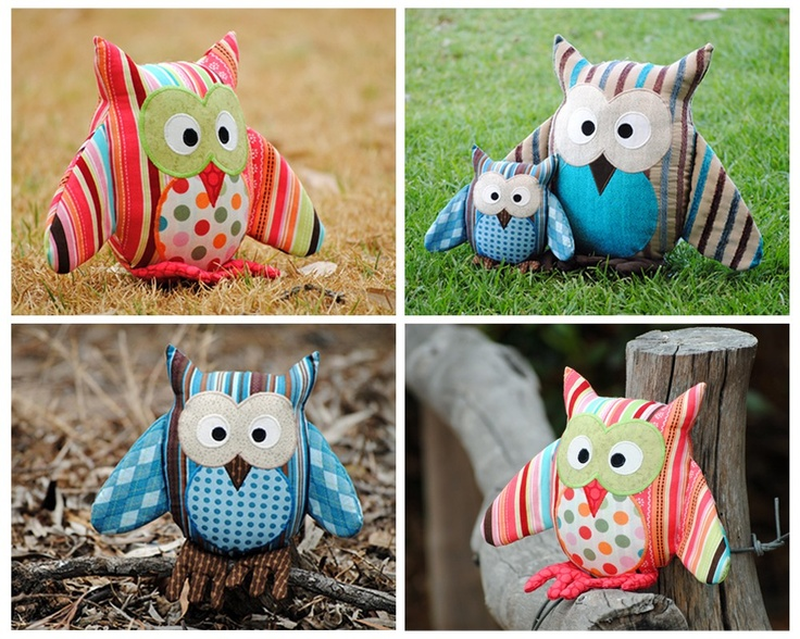 Owl Pattern. PDF Sewing Pattern for Owl Soft Toy, Cushion, Pillow, Plushie, Home Decor, Easy How To, Make and Sell, DIY by Angel Lea Designs. $11.50, via Etsy.