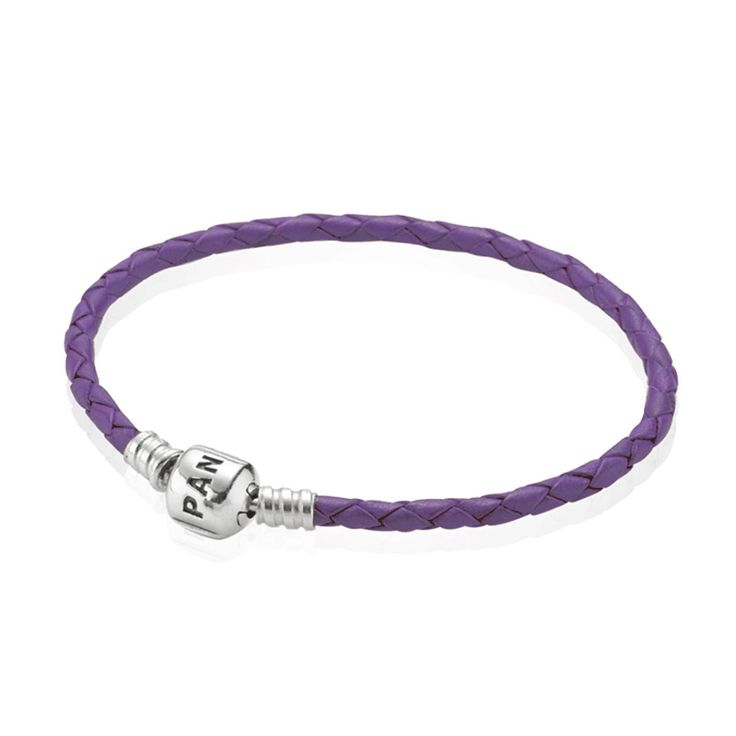 Purple Single Leather Bracelet | PANDORA, Bracelet, Purple leather, single, sterling silver clasp, CA$38.98 45% OFF, Buy Now: http://www.pandoracanada2013.com/pandora-purple-bracelet.html