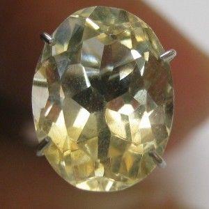 Light Yellow Citrine Oval Cut 3.05 carat