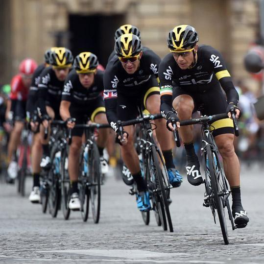 Tour de France 2015 Team Sky in Paris