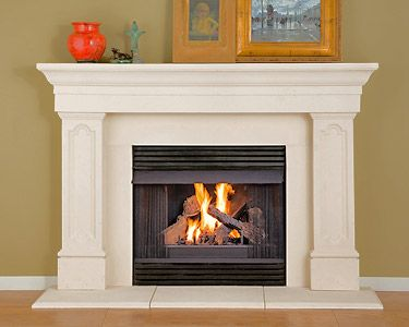 Luxury Wood Fireplace Mantel Surrounds Stone Fireplace