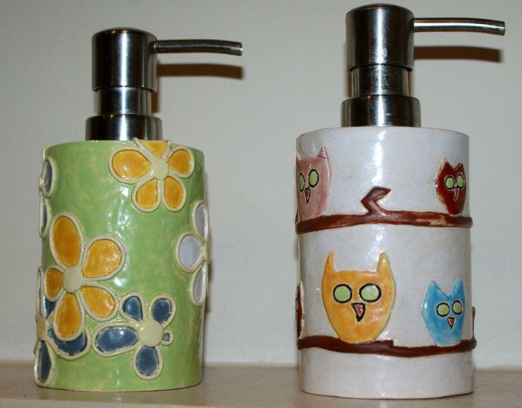 dozownik do mydła  Piekarnia sztuki - Krystyna Nicz #ceramika #handmade #ceramic #pottery
