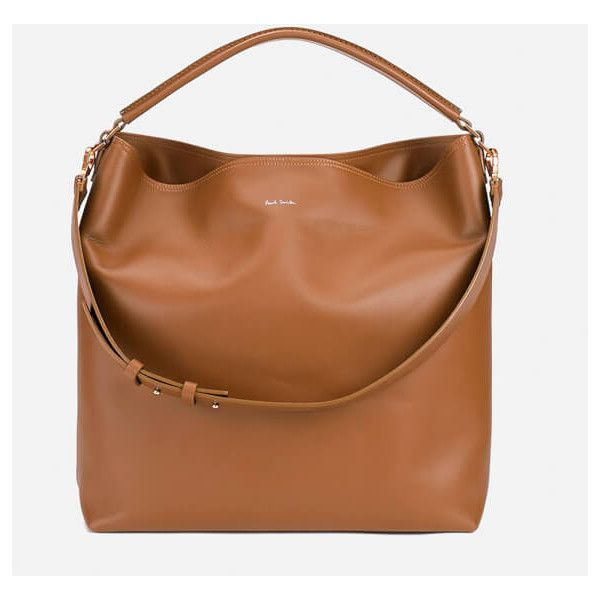 Paul Smith Accessories Hobo Bag - Tan ($555) ❤ liked on Polyvore featuring bags, handbags, shoulder bags, brown hobo handbags, hobo shoulder handbags, hobo shoulder bags, hobo purses and brown hobo purse