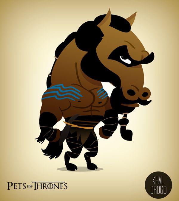 Khal Drogo - Humorous Pets of Thrones Series - My Modern Metropolis