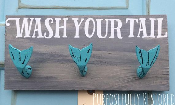 While you're at it make the hooks fun, like these mermaids. | 29 Ways To Design Your Kid's Dream Bathroom