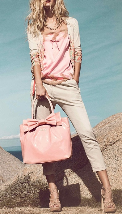 Play it casual cool with pink accessory essentials.