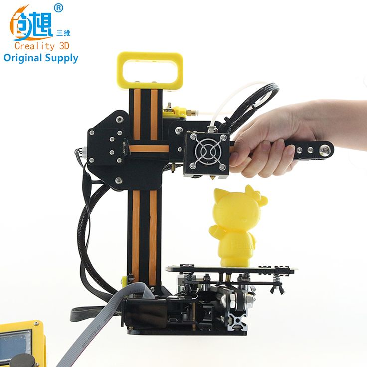 CREALITY 3D Cheap 3d Color Printer Mini CR-7 Full Metal DIY kit +Filaments Covered Nozzle No Heating bed Sale Gift For Kids