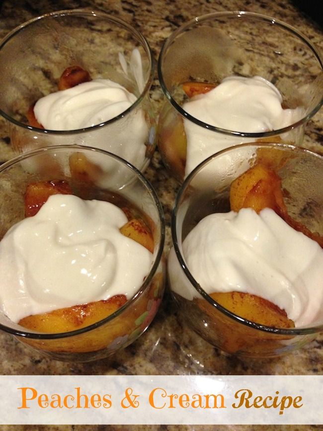 Today we are sharing a healthyPeaches and Creamrecipe that is made with Greek Yogurt and frozen peaches. Can be used as a snack or dessert.
