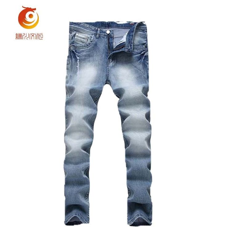 (32.41$)  Buy here - http://aiybg.worlditems.win/all/product.php?id=32794249937 - 2017 New Retro Nostalgia Straight Denim Jeans Washed Ripped Jeans with Holes Hip Hop  Destroyed Denim Pants Spijkerbroek Mannen