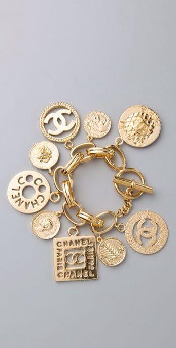 Chanel gold charm bracelet