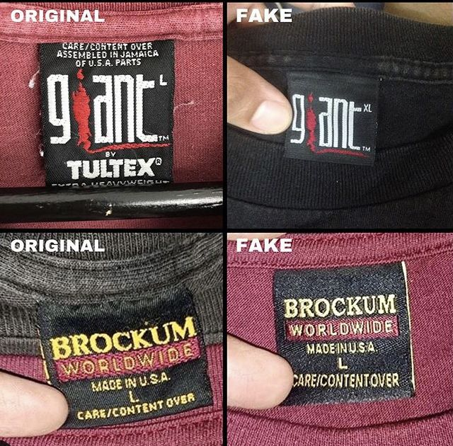 How To Tell Real Vs Fake Vintage Tags T Shirt Label Rock T Shirts
