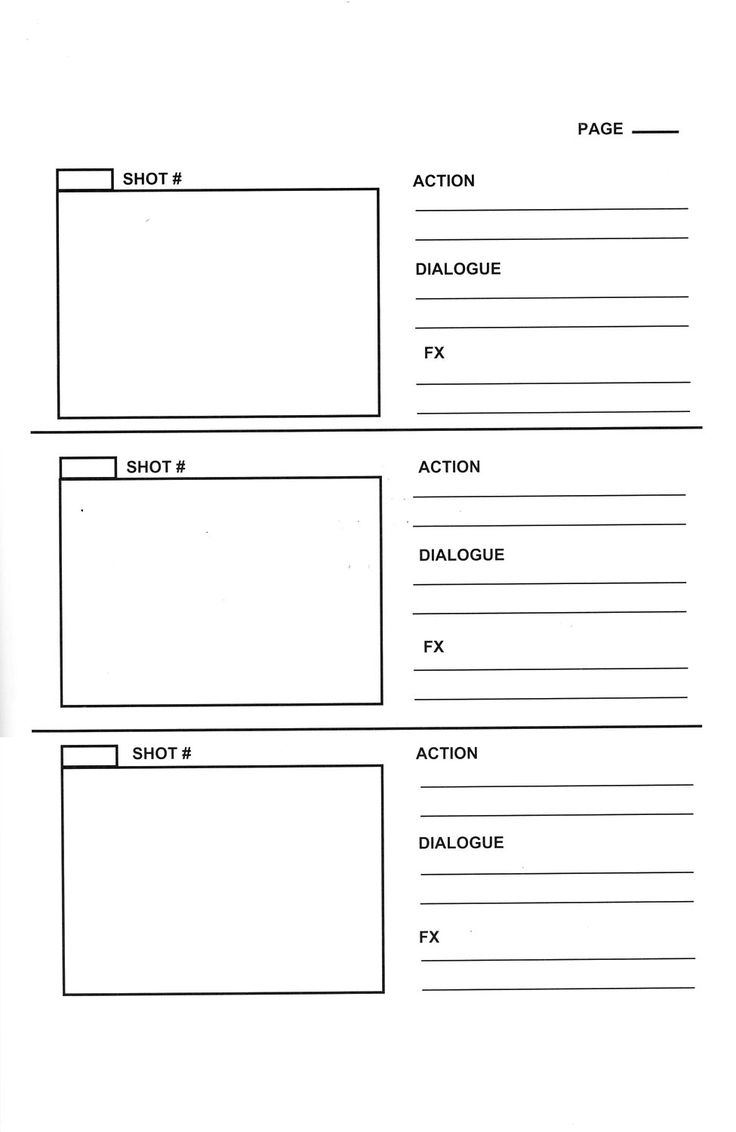 storyboard template | Storyboard templates to plan your book trailer
