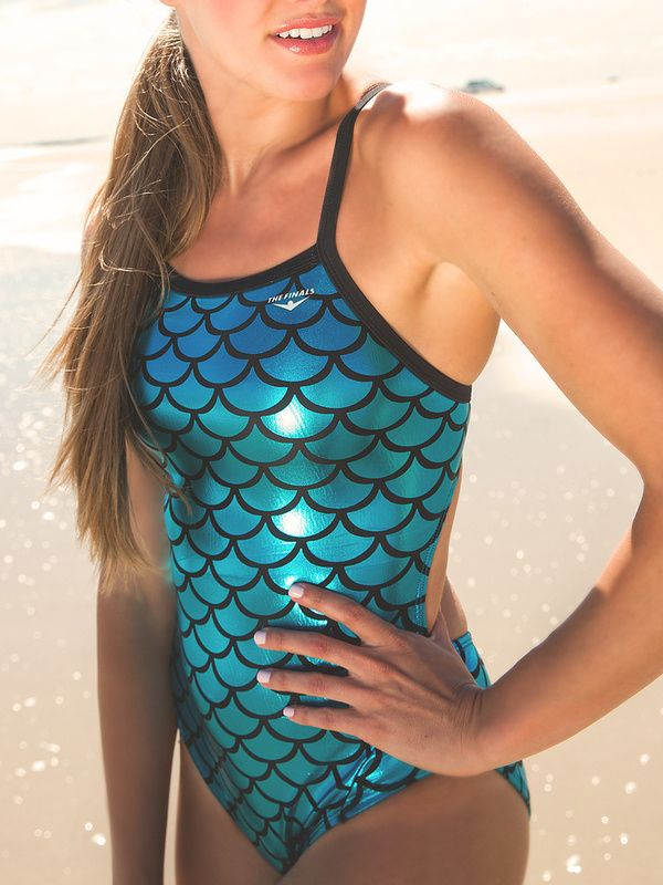 One-piece mermaid swimsuit