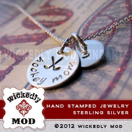 Hand Stamped Jewelry  Personalized Necklace by wickedlymodpendants, $42.00