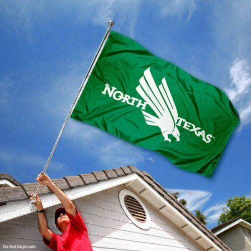 North Texas Mean Green Eagles University Large College Flag by College Flags and Banners Co.. $29.95. Our North Texas Mean Green Flag measures 3x5 feet in size, has quadruple-stitched fly ends, is made of durable polyester, and has two metal grommets for attaching to your flagpole. The screen printed UNT logos are Officially Licensed and Approved by University of North Texas and are viewable from both sides with the opposite side being a reverse image.. Save 33% Off!