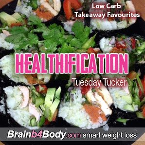 I'm transforming 3 favs: SUSHI, BURGERS & PIZZA  #LowCarbTakeaway http://www.brainb4body.com/122-tuesday-tucker-low-carb-takeaway-favourites/