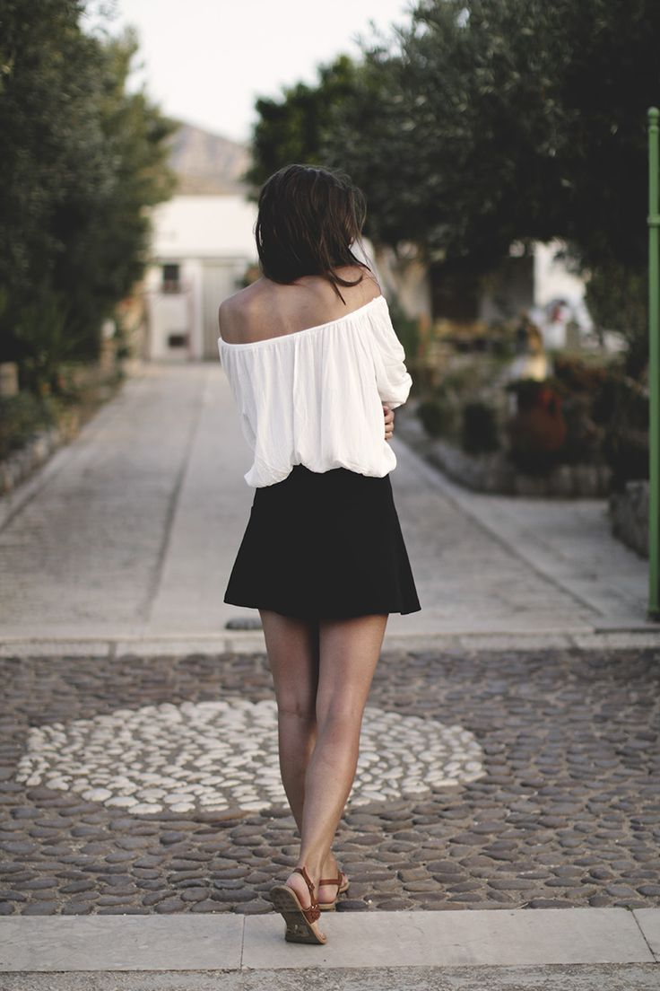 romantic ootd white & black look