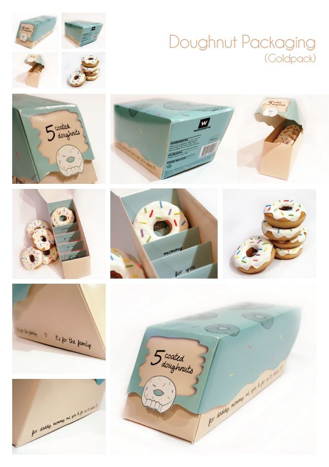 donut #packaging. Breakfast : ) PD