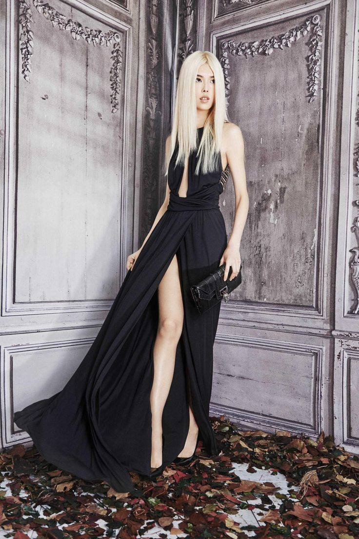 - The Philipp Plein woman for pre-fall 15 is wrapped in dreamy muted shades of lavender, gray, violet, foggy white and sky blue, along with pastel pink and jet black. Sophisticated looks in coordinated skin tight studded leather pants and matching j