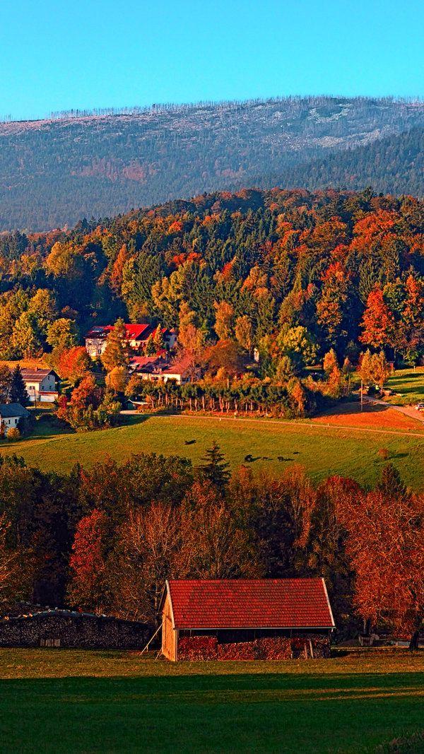 Indian summer scenery. Schwarzenberg am Böhmerwald, Austria / Österreich --- photo: patrickjobst on deviantart