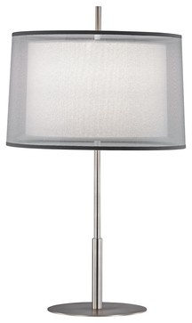 """Contemporary Robert Abbey Saturnia Steel 30"""" High Table Lamp modern table lamps"""