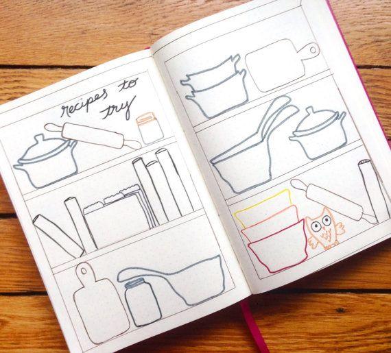 Repas planification pochoir  Bullet Journal pochoir par Moxiedori