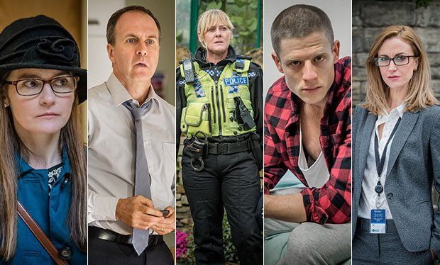 Happy Valley s2. The best British show of the year? Performances from the whole cast are solid gold but Sarah Lancashire is remarkable as the angry, grieving cop Catherine Cawood, on the trail of a serial killer. Back home her sister's falling off the wagon and grandson Ryan is struggling to understand why no-one wants to talk about his dad....the terrifying Tommy Lee Royce.  Unknown to the family, Tommy wants to get closer to Ryan.