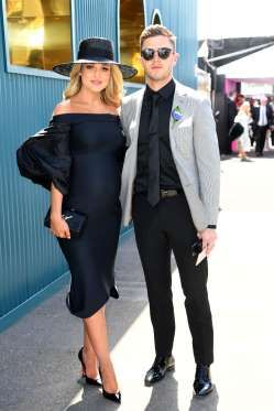 AFL Carlton player Marc Murphy and his wife Jessie - AAP Image/Joe Castro