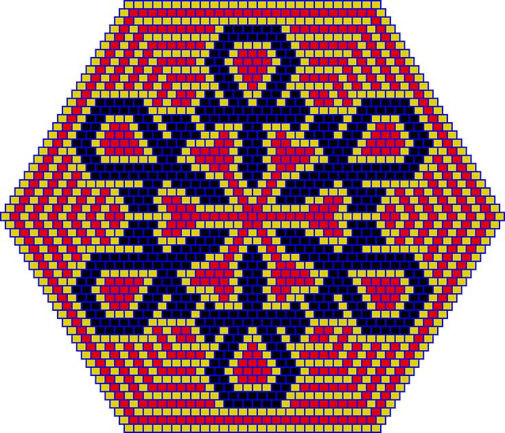 Snowflake Mandala PATTERN, peyote or brick